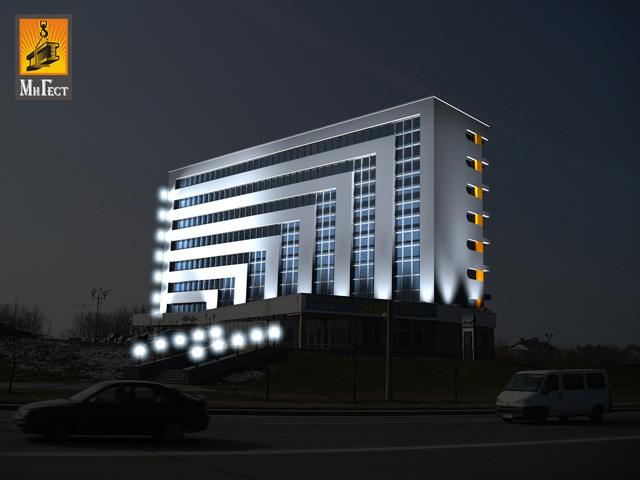 Светодиодная подсветка ночью