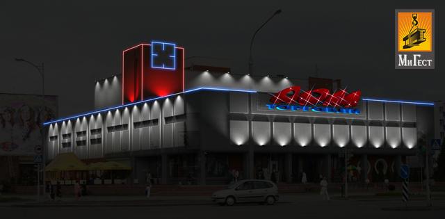 Архитектурная подсветка ночью