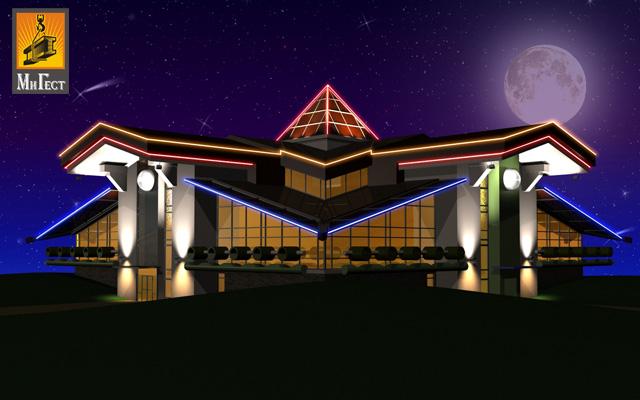 светодиодная подсветка зданий минск